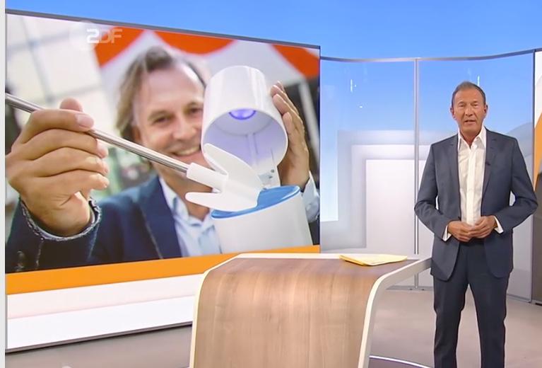 Keimfreie Toilettenbürste UV-C Licht Wunderblau/ ZDF
